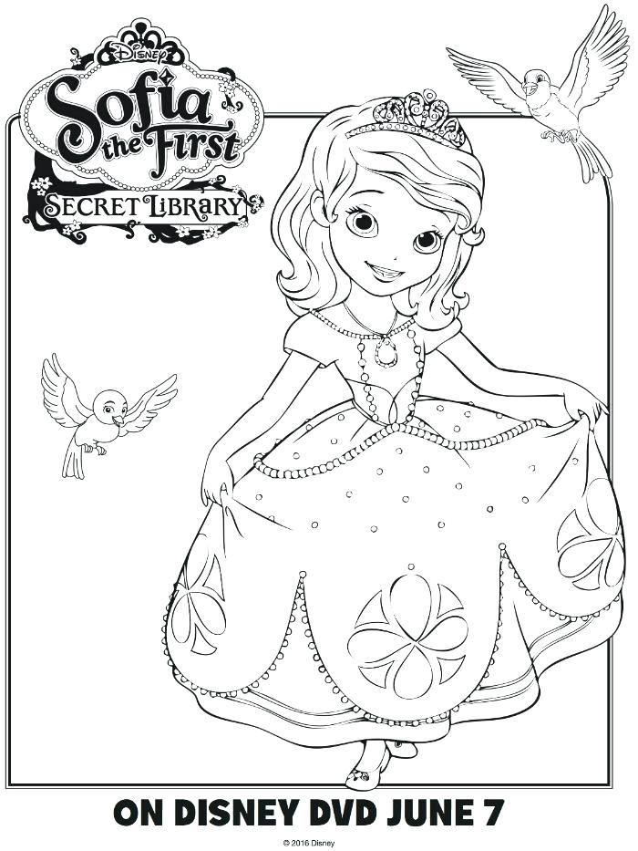 photo about Sofia the First Printable Coloring Pages known as Sofia The To start with Coloring Web pages In direction of Print at