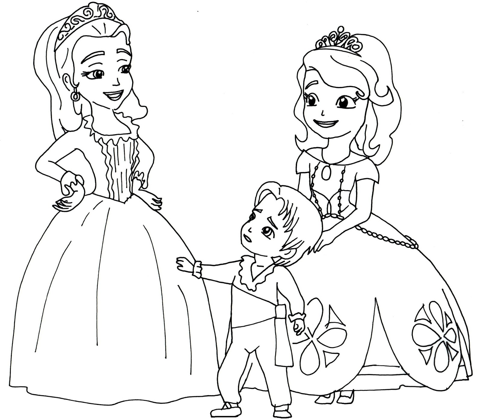 Sofia The First Disney Princess Coloring Pages At Getdrawings