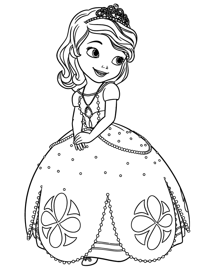 670x867 Princess Sofia Coloring Pages Luxury Disney Sofia The First