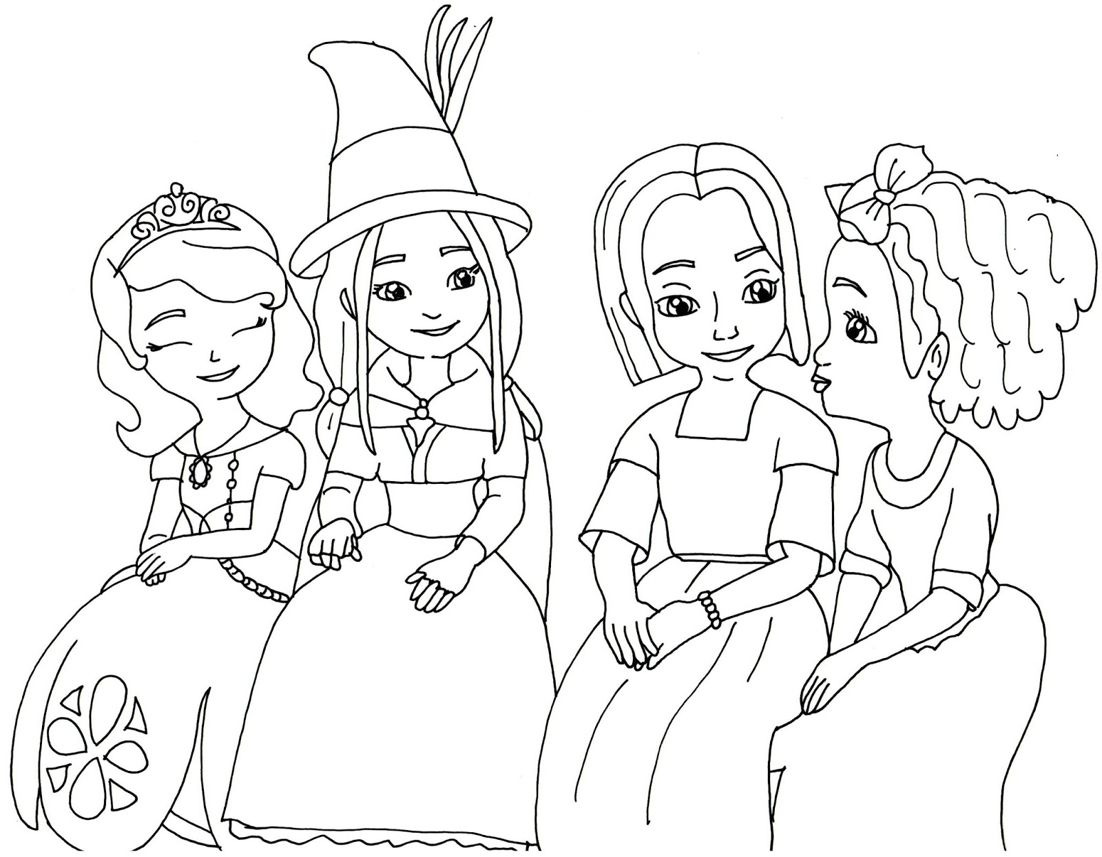1600x1245 Sofia The First Disney Princess Coloring Pages And Page