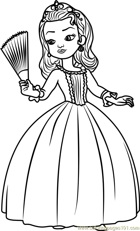 484x800 Sofia The First Coloring Pages Amber