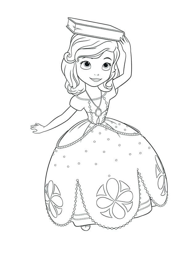 600x834 Sofia The First Disney Princess Coloring Pages Picture Of Princess