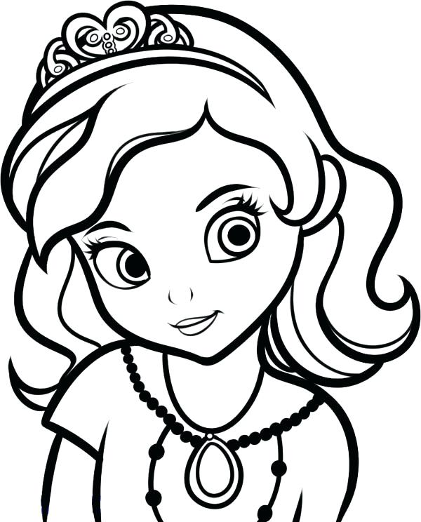 600x744 Sofia The First Disney Princess Coloring Pages The First Princess