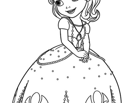 440x330 Sofia The First Disney Princess Coloring Pages, Sofia The First