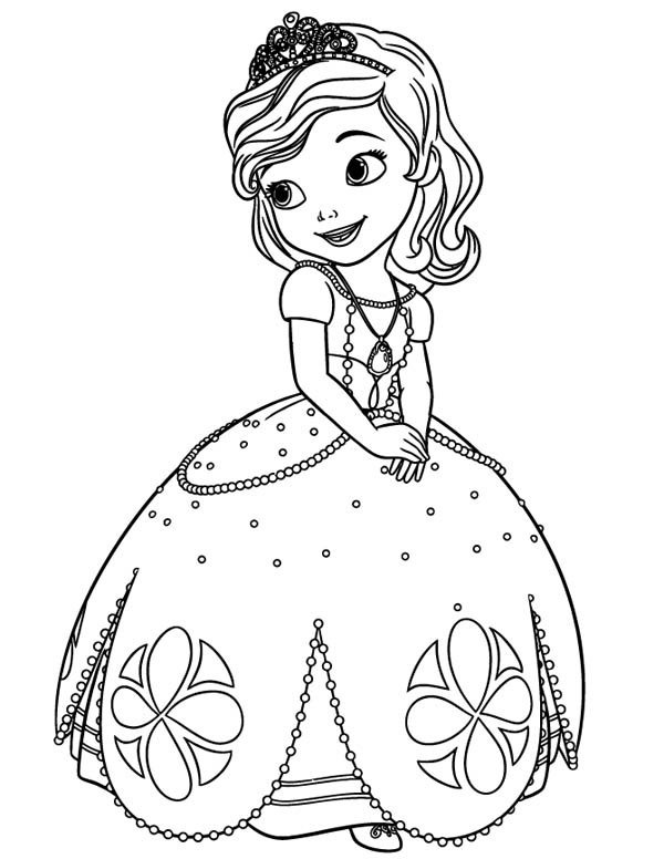 600x776 Sofia The First Disney Princess Coloring Pages