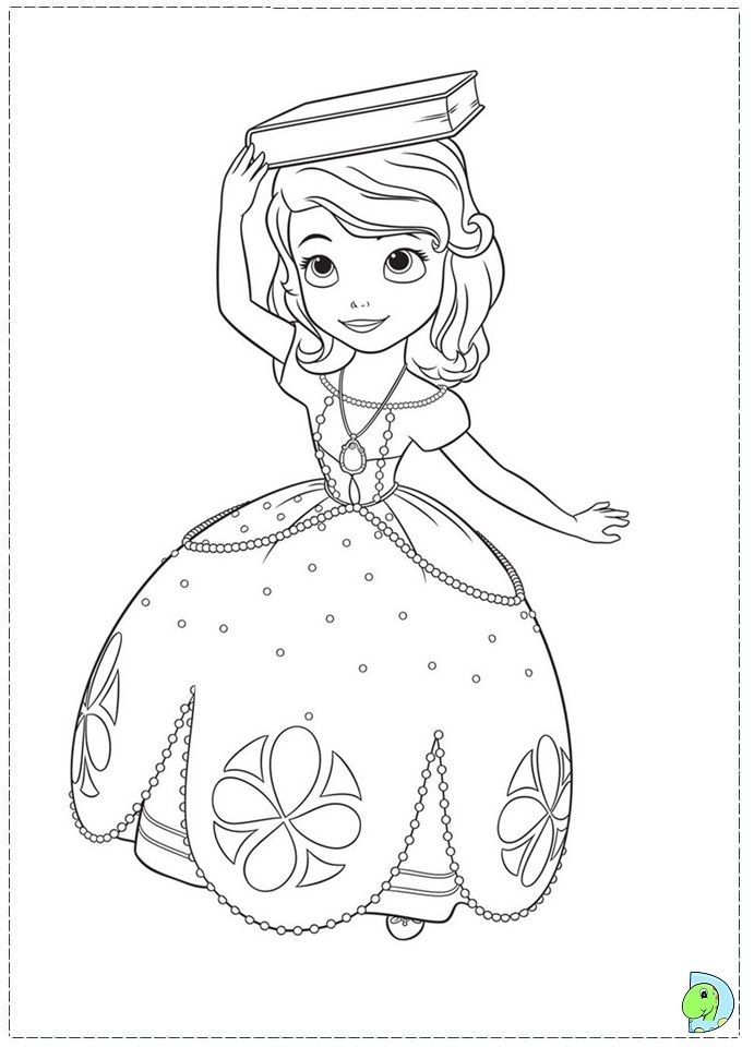 691x960 Sofia The First Coloring Pages Printable Projects To Try