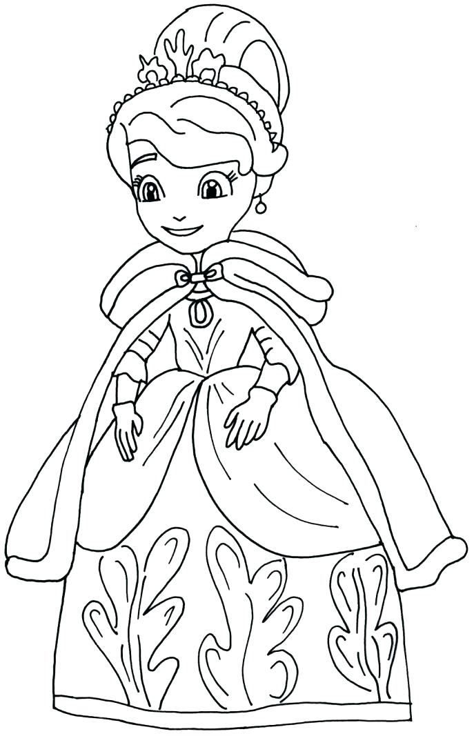 687x1067 Sophia The First Coloring Page The First Coloring Pages Medium