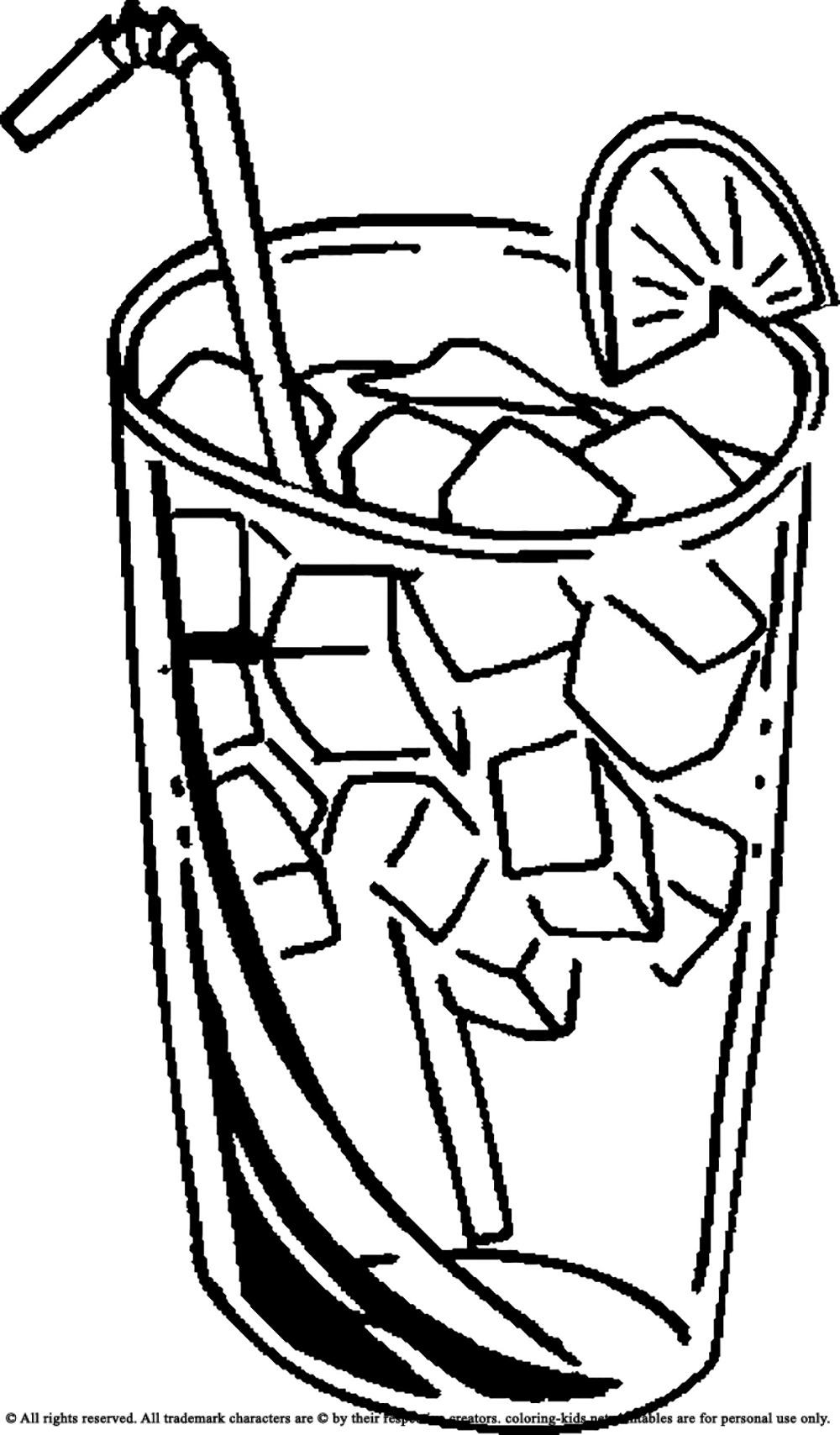 1000x1708 Drinking Ice Cold Juice Drinks Coloring Pages Kids Net