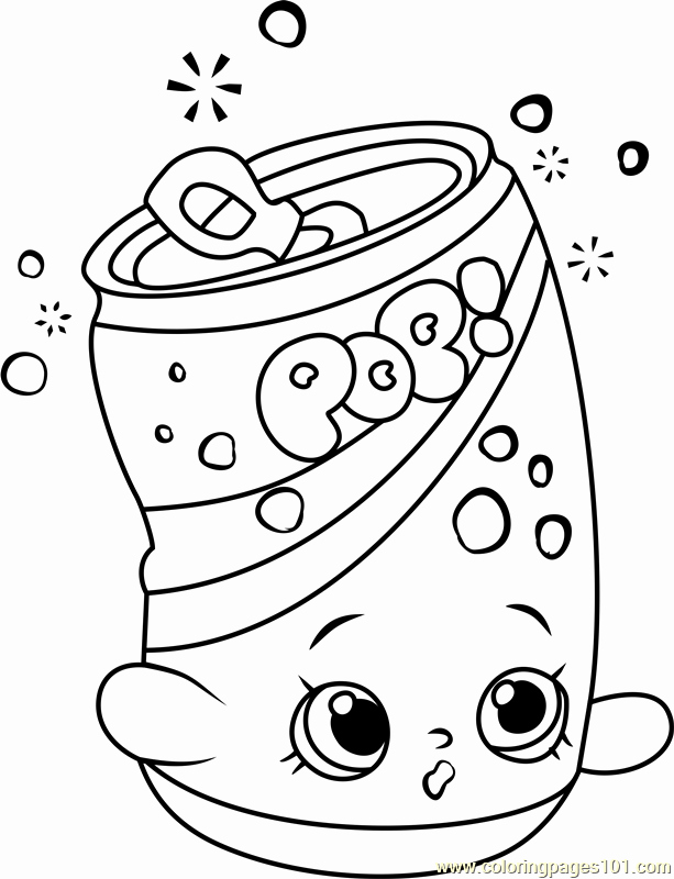613x800 Soda Coloring Pages Shopkin Coloring Pages