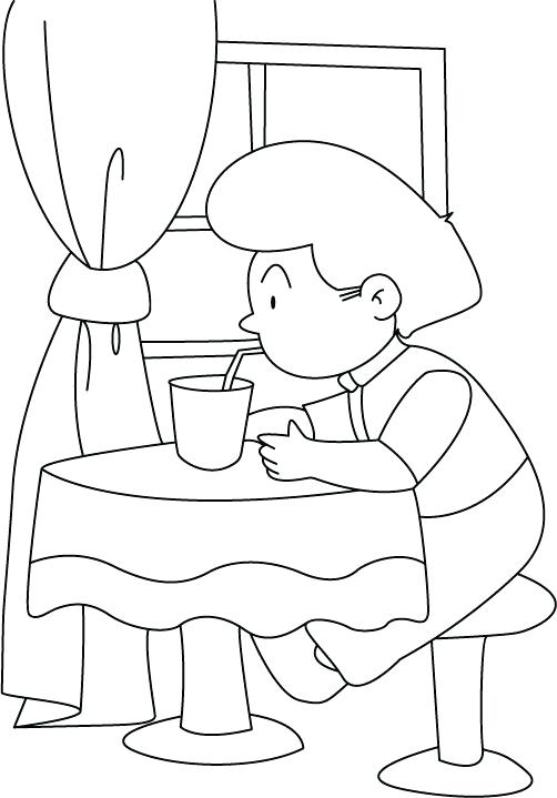 502x719 Drink Coloring Drinks Coloring Pages Drink Coloring Picture