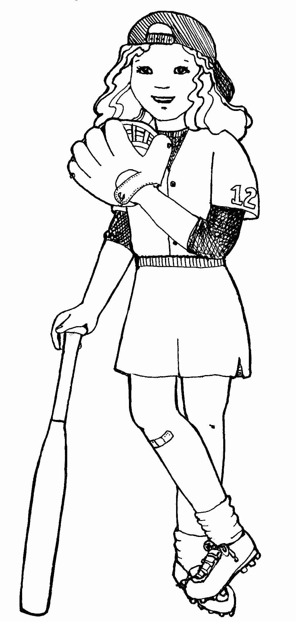 1017x2136 Pioneering Softball Coloring Page Color Pages Brilliant Olegratiy