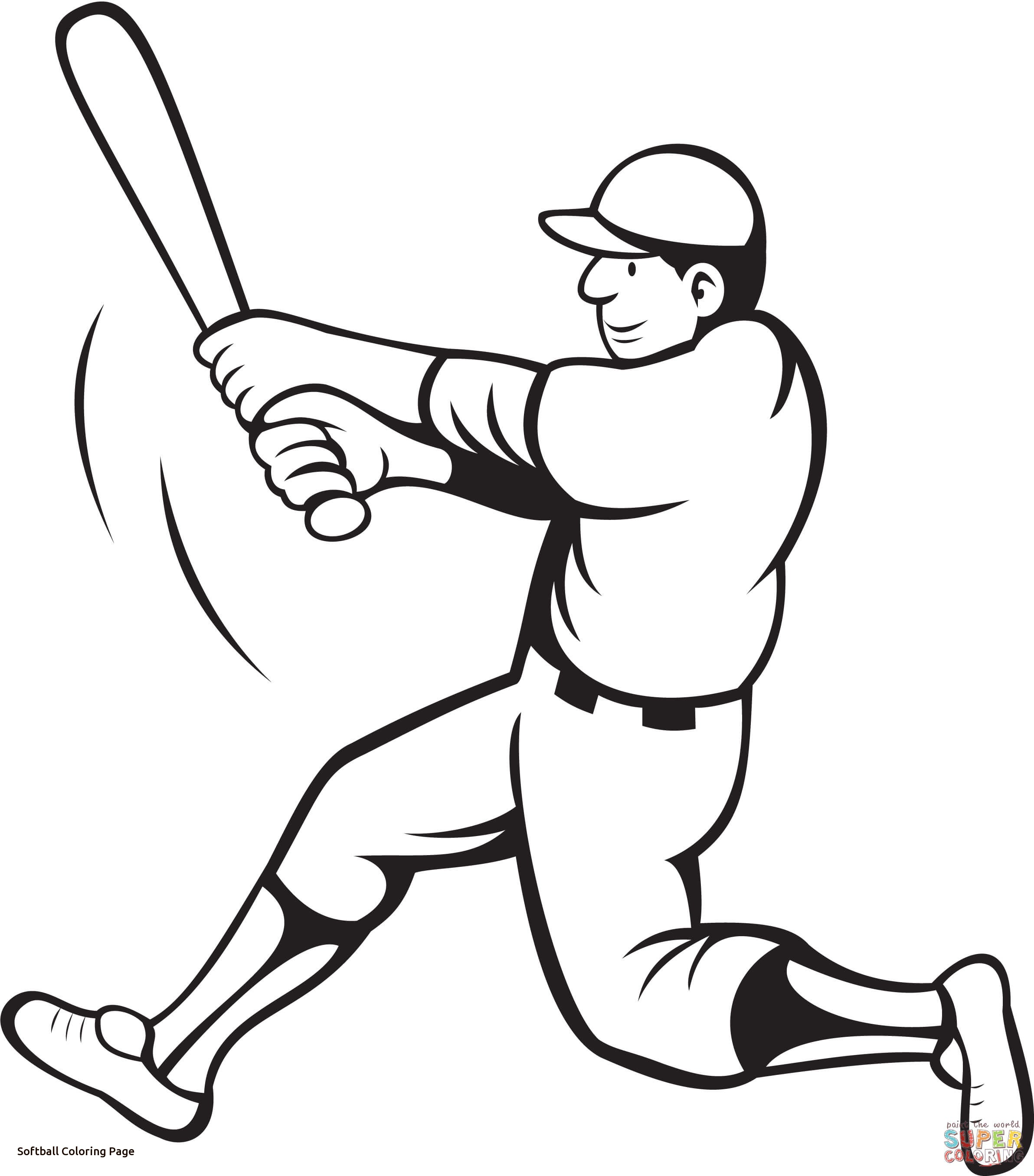 2384x2712 Softball Coloring Pages