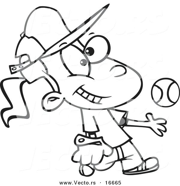 600x620 Softball Coloring Sheets Drawing Softball Coloring Pictures Free