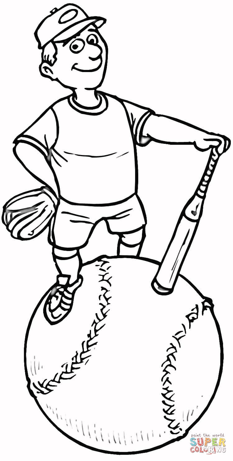750x1484 Exciting Softball Coloring Page Player Free Printable Pages