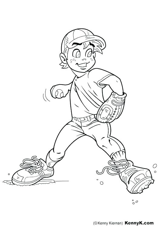 531x750 Baseball Glove Coloring Page Pitcher Coloring Pages Softball