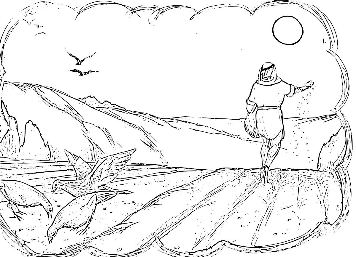 1200x868 Parable Of The Sower Coloring Pages