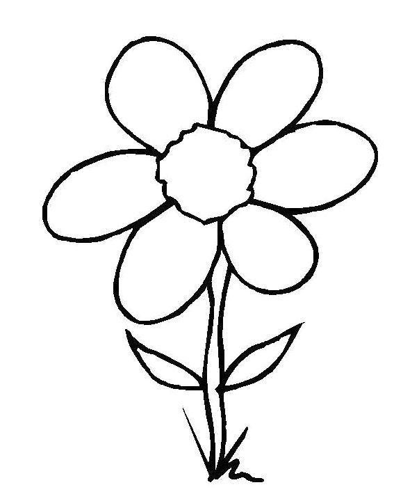 580x720 Flower Embedded In The Soil Coloring Page For Kids Action Man
