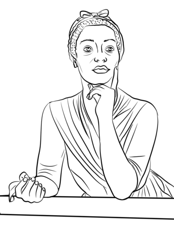 349x480 Phillis Wheatley Coloring Page From Famous People Category Select