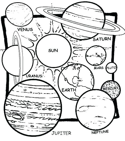 506x570 Solar System Coloring Book Pages