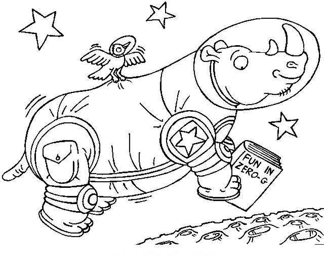640x522 Animals Astronauts Coloring Pages Free Coloring Pages