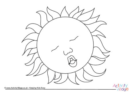 460x324 During The Eclipse Colouring Page