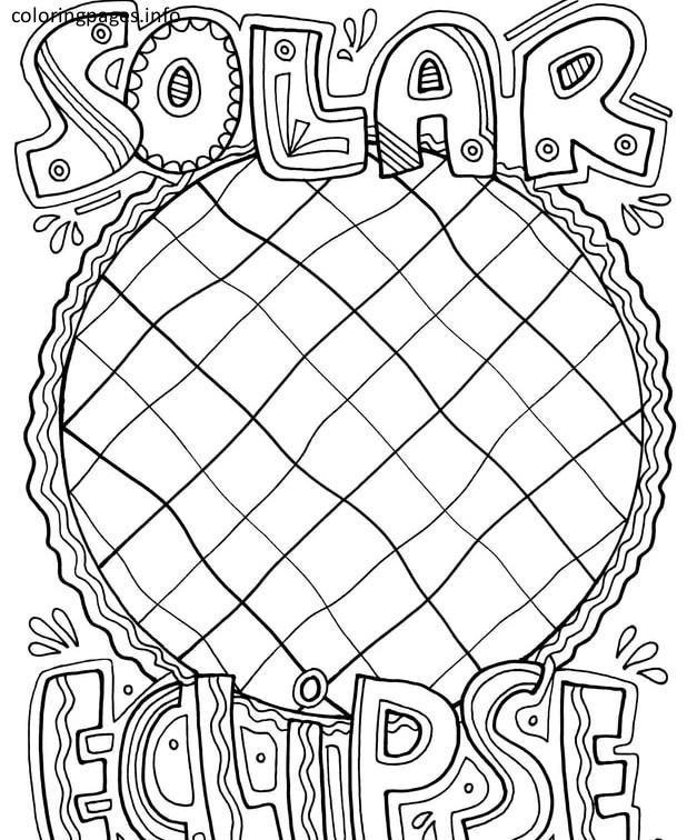 618x756 Solar Eclipse Coloring Page
