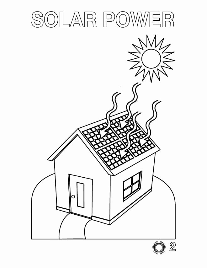 660x854 Solar Energy Coloring Pages