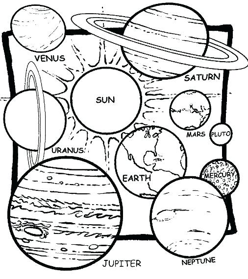 506x570 Educational Coloring Pages Solar System Coloring Pages Educational