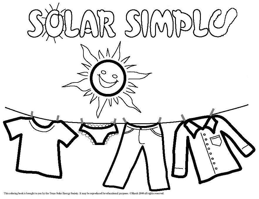 882x678 Solar Energy Coloring Pages