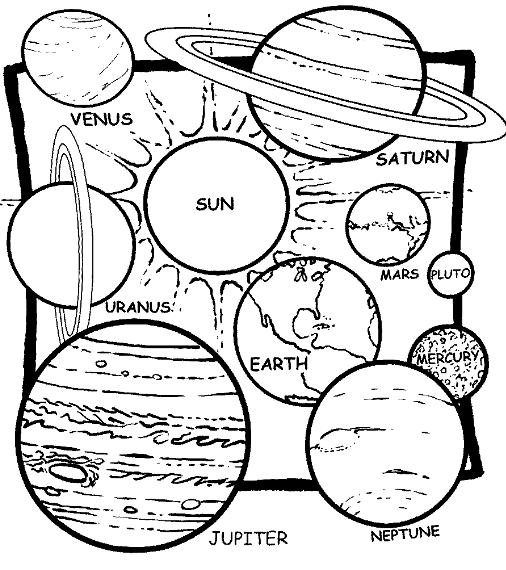 506x570 Solar System Coloring Pages Planetas