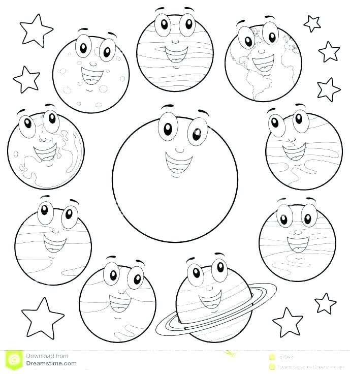 689x736 Solar System Coloring Pages Solar System Color Pages Solar System