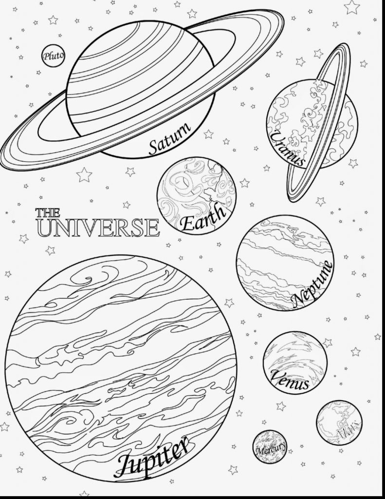 Solar System Coloring Pages Kindergarten