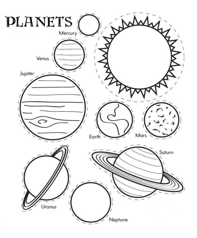 677x821 Printable Solar System Coloring Sheets For Kids! Solar System