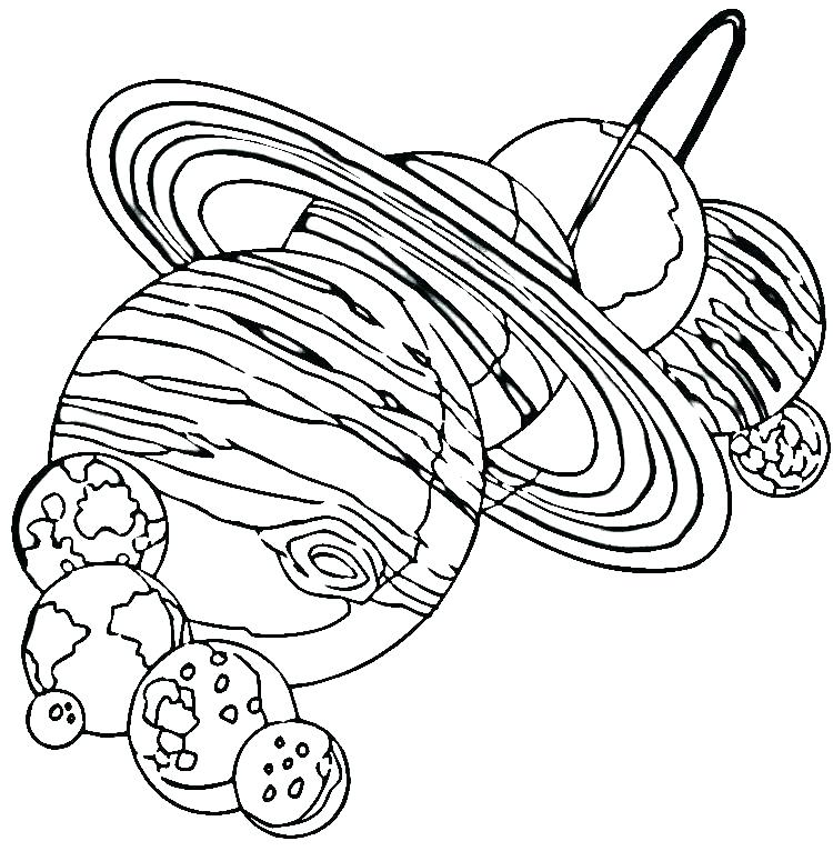 750x766 Solar System Coloring Page Printable Free Pages Astronomy