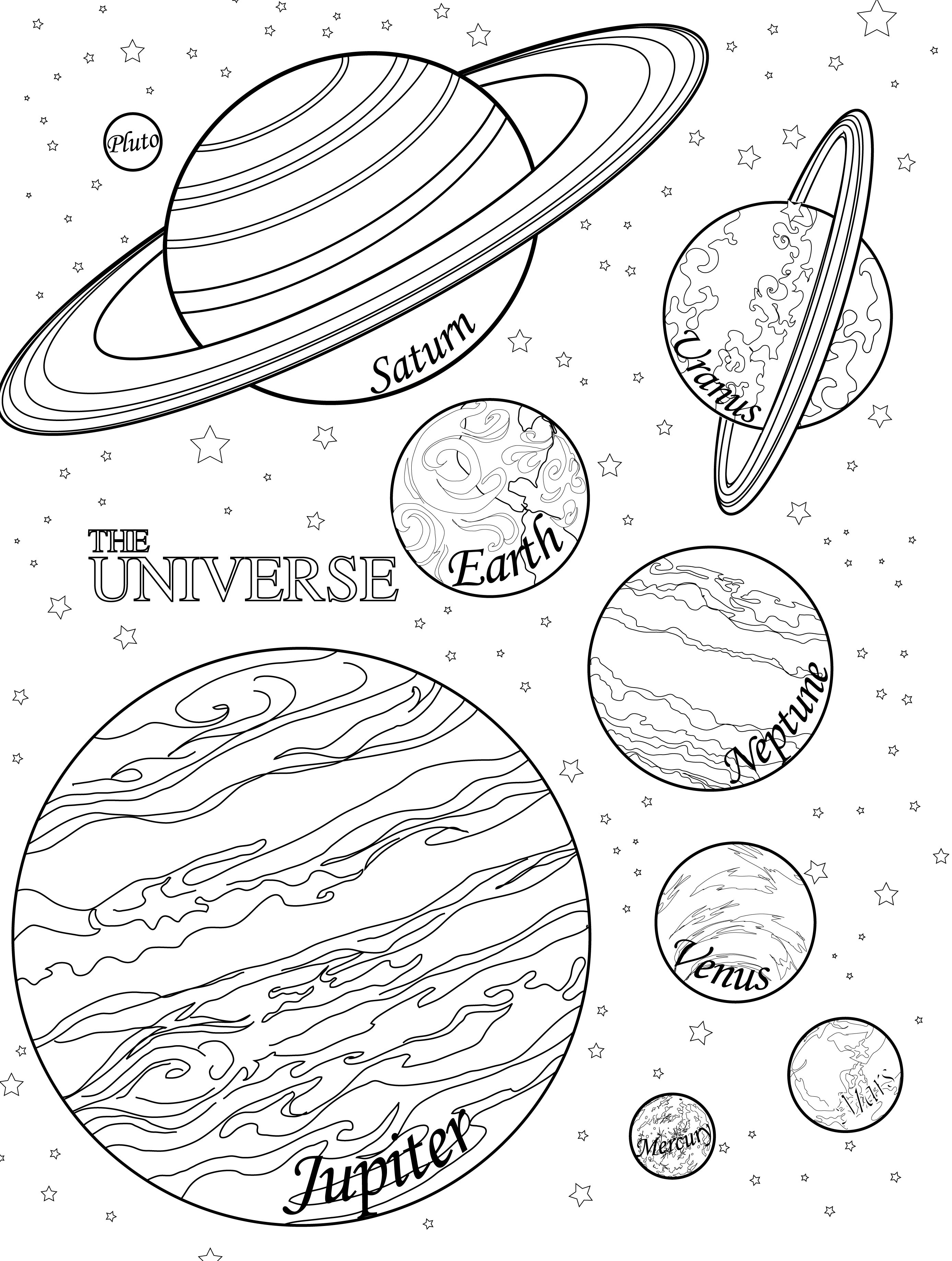 2775x3675 Solar System Drawing Worksheets Free Printable Planet Coloring