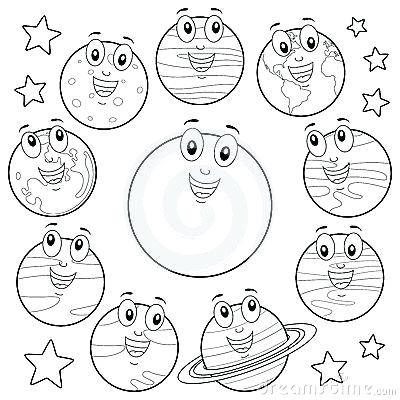 400x400 As Well As Drawn Planets Sun Moon Solar System Coloring Pages