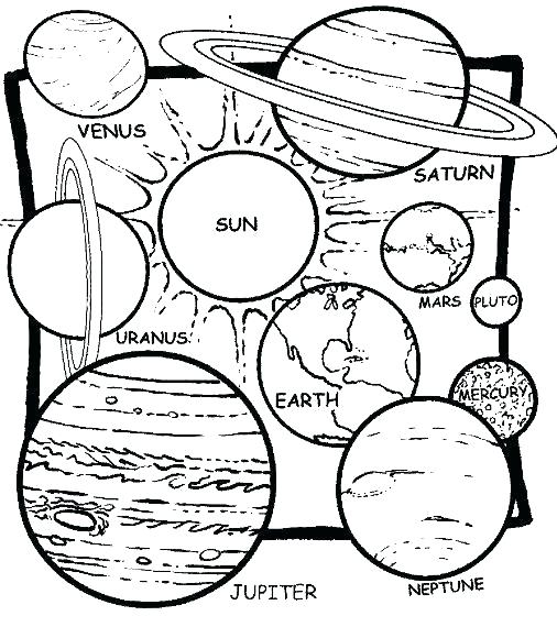 506x570 Solar System Coloring Pages Pdf Medium Size Of Solar System