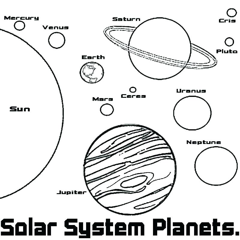 800x800 Solar System Coloring Sheet