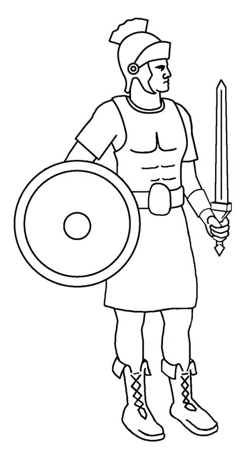 498x900 Soldier Coloring Page A Roman Soldier From Late Ancient Coloring