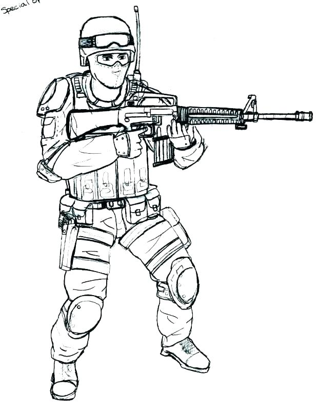618x810 Soldier Coloring Pages Special Forces Soldier Coloring Page Roman