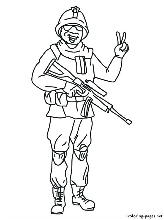 560x750 Soldier Coloring Pages To Print Free Printable Soldier Coloring