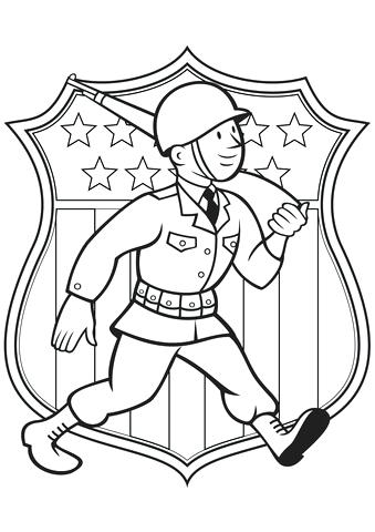 339x480 Wwii Coloring Pages World War Soldier Coloring Page Free