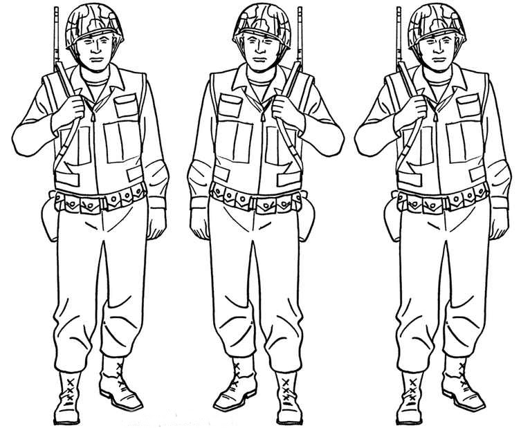 753x619 Army Soldier Colouring Pages Free Download