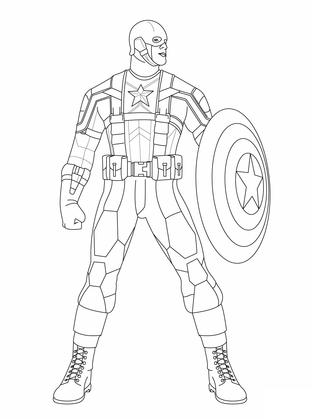 1200x1600 Captain America Winter Soldier Coloring Pages