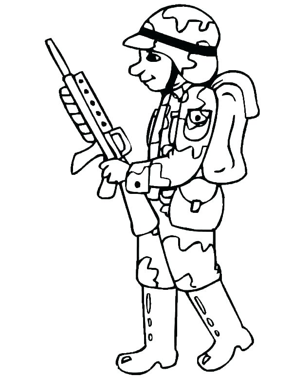 600x776 Coloring Pages Of Army Soldiers Coloring Pages Soldier Drawing
