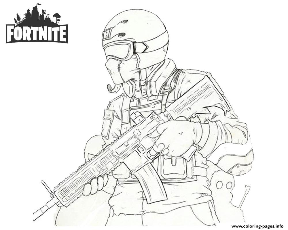 1000x800 Fortnite Soldier Coloring Pages Printable