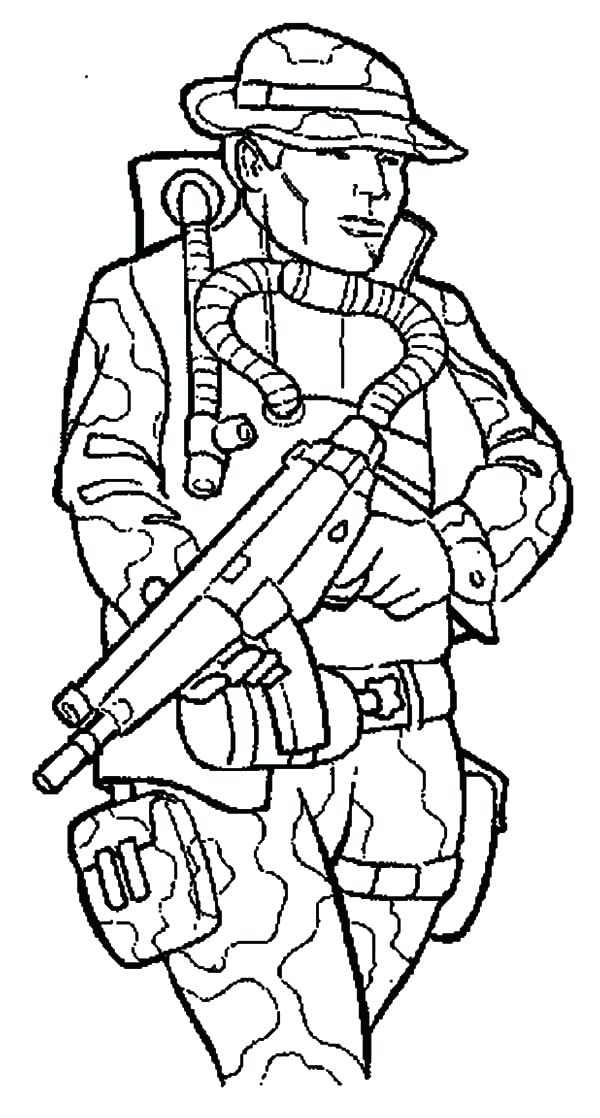 600x1118 Soldier Coloring Pages To Print Military Marching Soldier Coloring