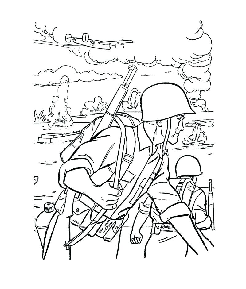801x942 Soldier Coloring Pages To Print Soldiers Coloring Pages Coloring