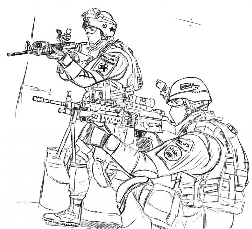 1024x930 Soldier Coloring Pages