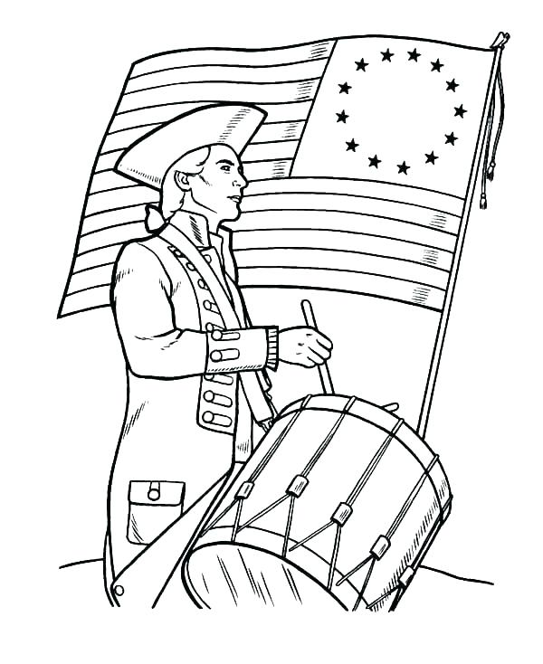 600x734 Army Soldier Coloring Pages Soldier Coloring Pages Drum Coloring
